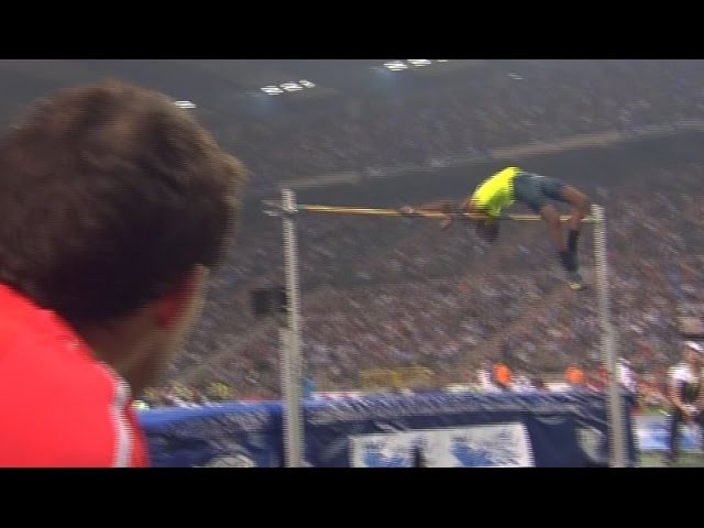 High jump - Barshim(243cm) vs Bondarenko(240cm) - Diamond League 2014 Brussels