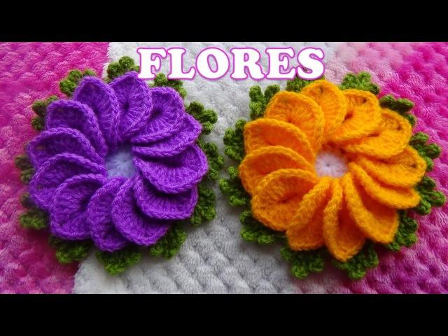 Como tejer Flores a crochet para tapetes y centros de mesa paso a paso FÁCIL Y RÁPIDO