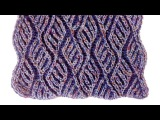 Two-color brioche scarf knitting pattern + free chart inserted into video