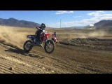 10 year old rides 450 dirt bike!