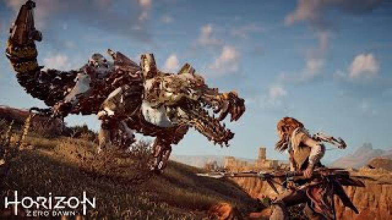 Мир будущего населенный роботами динозаврами. Фантастический игровой фильм Horiz...