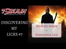 Discovering my licks #8. Melodic minor + Pentatonic lick