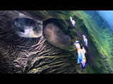 Epic Flight Over an Active Volcano in Indonesia