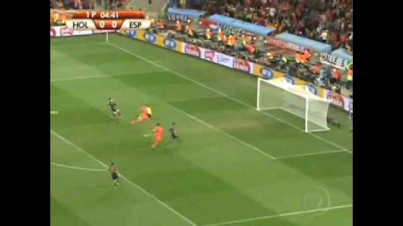 Holanda x Espanha (0-1) - FINAL DA COPA 2010 - Gols Lances