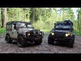 scale offroad adventures in mud rc land rover defender 90 #wildbrit vs rc defender 90