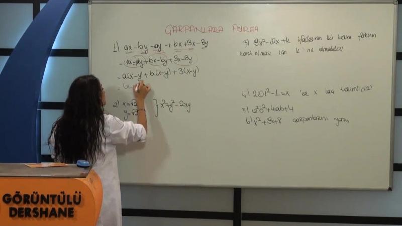 TEOG Matematik Çarpanlara Ayırma