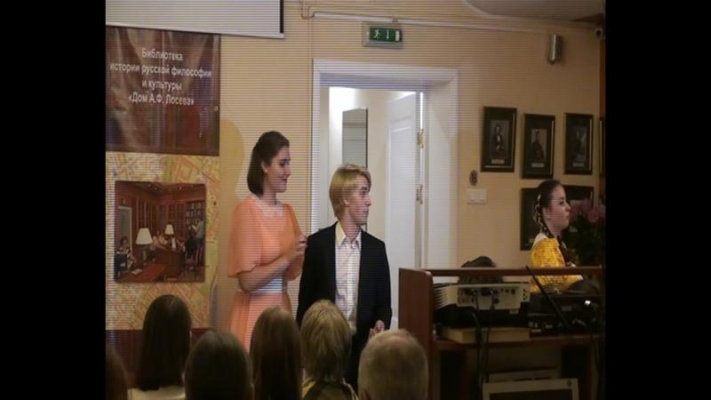 Маша Солдатенкова (1 курс) поет песню из кинофильма Богатая невеста, а Денис Шилин (2 курс) - Почему, отчего из Повести о п