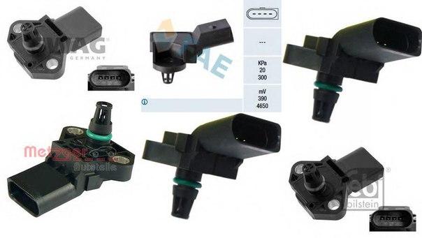 Датчик, температура впускаемого воздуха; Датчик, давление наддува; Датчик, давление во впускном газопроводе для AUDI A5 кабрио (8F7)