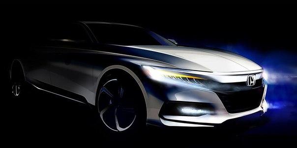 Honda показала дизайн нового Accord.    Компания Honda опубликовала пе