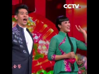 Китайский народный танец «янгэ» с песнями
