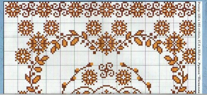 Схема для пасхального полотенца