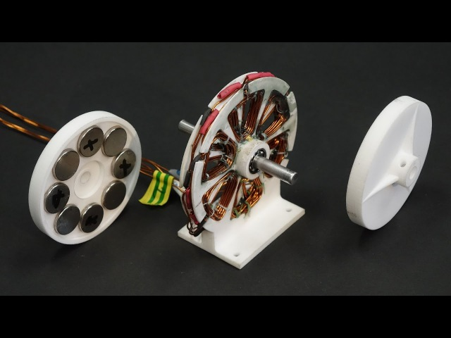 3D printed axial brushless motor for drones