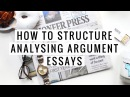 How to structure analysing argument for two or more articles!