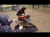 Уличный Jimi Hendrix! Джими Хендрикс нашего времени!
