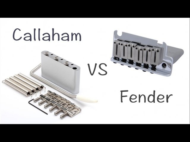 Callaham Upgrade Kit vs Fender Stratocaster Tremolo