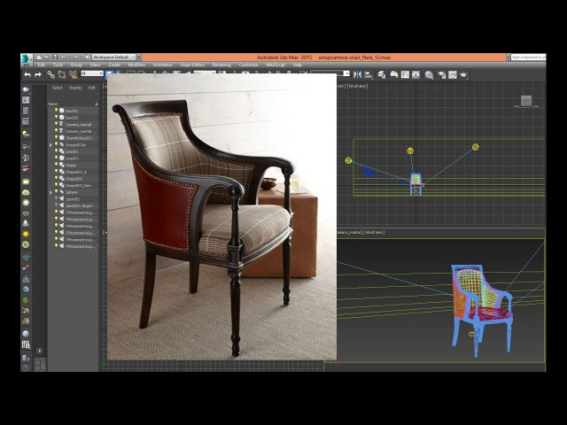 3dsmax tutorial chair Classic basic modeling