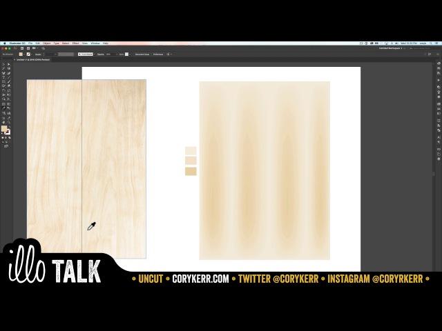 UNCUT: gradient mesh tool to make woodgrain