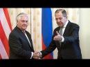 Sec. Rex Tillerson meets Sergey Lavrov after war of words over Syria. Tillerson visits Moscow