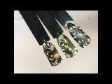 Дизайн ногтей магнитными гель-лаками Хамелеон с прорисовкой