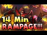 Solo Warlock - First Time Ever 14 min RAMPAGE!!! DOTA 2