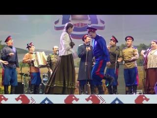 Юрий и Наталья Щербаковы, и ансамбль старинной казачьей песни