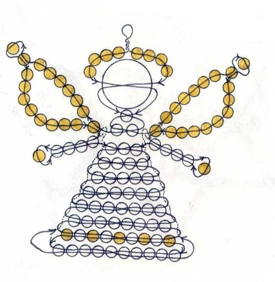 ангелочек из бисера схема
