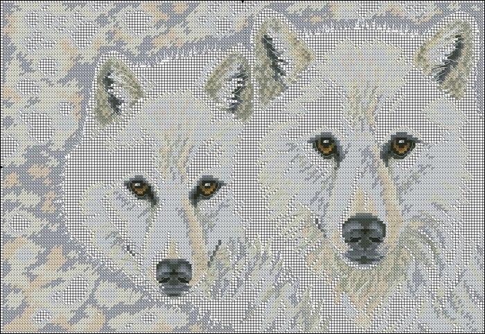 волки крестиком схемы