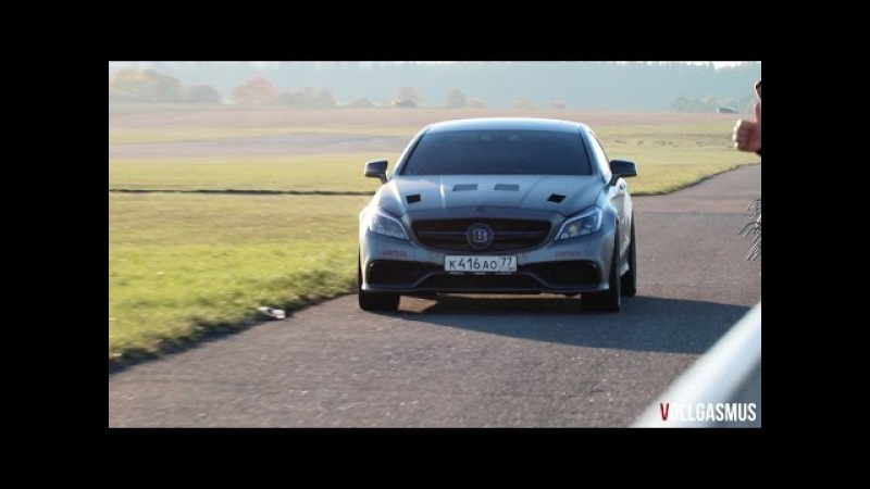 1181 HP Brabus Mercedes CLS 63 AMG by GAD: Loud Turbo Sound, Downshifts and Accelerations