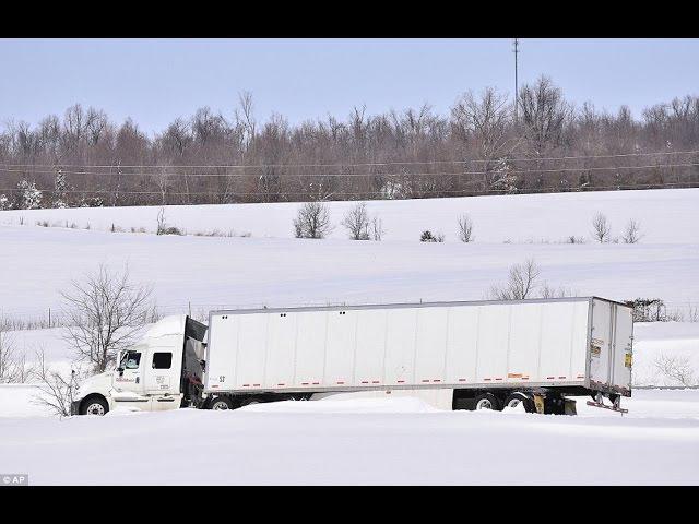 285Alex-Дальнобой США...Начало зимы за 4 минуты...Arizona..I-40..Flagstaff