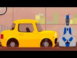 Laboratório secreto!!! Doutora Mac Wheelie e um robô! Desenhos animados de carros para crianças. Br