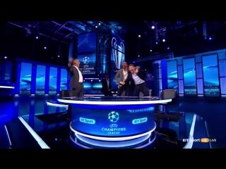 Реакция Гари Линекера, Рио Фердинанда, Стивена Джеррарда и Майкла Оуэна на победный гол «Барселоны».