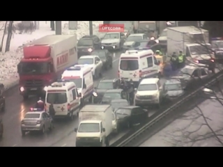 ДТП с участием восьми автомобилей в Москве