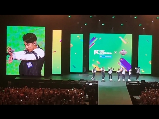 170922 EXO Photo time, CHANYEOL Push up @KCON AUSTRALIA