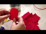 Делаем розы из гофрированной бумаги. Быстро и просто.