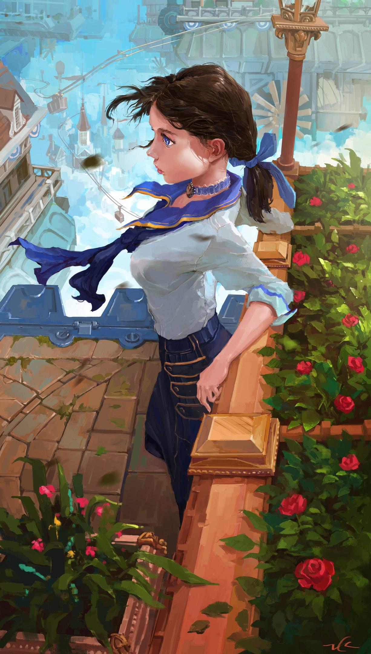 арт на Элизабет из BioShock Infinite (Adam Zhu)