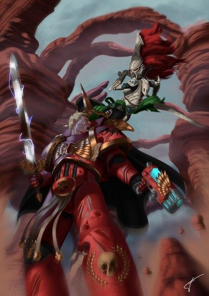 Кровавый Ангел и Космодесантник (Warhammer 40.000)