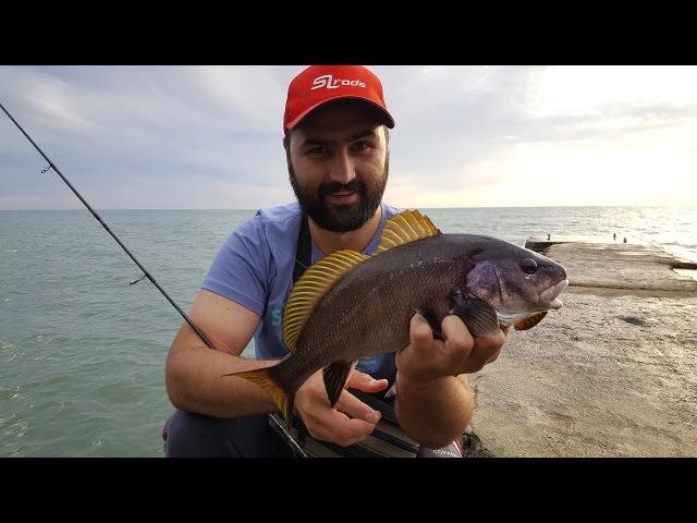 Рыбалка в Абхазии. Поклевка и вываживание горбыля