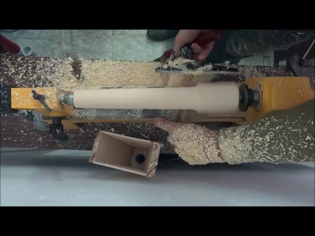 Изготовление простой деревянной свирели How to make a simple wooden flute