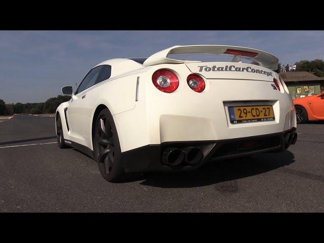 1050HP Switzer P800 Nissan GT-R - BRUTAL Accelerations Backfire FLAMES!