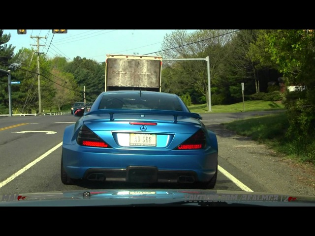 Alex Ovechkin's Mercedes SL65 AMG Black Series (Matte Blue) On the Road!!