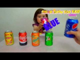 Learn Colors with Soda for Children, Toddlers and Babies Bad Kid Learns Colours