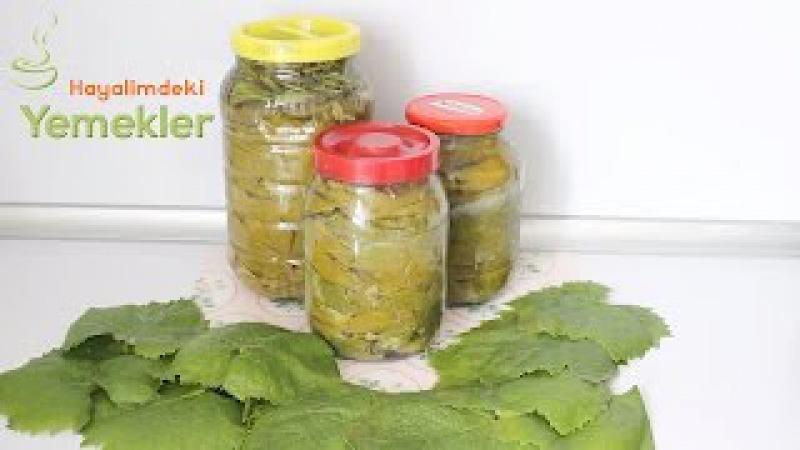 Yaprak Salamura Nasıl Yapılır- Üzüm yaprağı Salamurası tarifi Hayalimdeki Yemekler