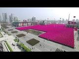 North Korean military parade in Pyongyang. April 15. 2017. Kim Jong un
