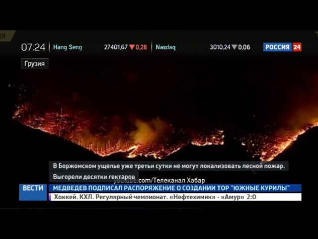 Новости на «Россия 24» • В Грузии третьи сутки полыхает лес в Боржомском ущелье