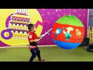 ★ Фиксики в День Рождения Ромы 4 года Нолик и Симка present Happy Birthday fixiki новые Фиксики 2016