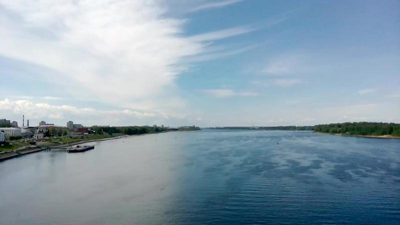 По мосту через Волгу Рыбинск сегодня 07 06 2017