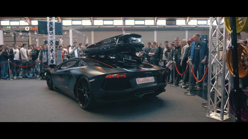 LEVELLA Aventador shooting flames Tuningworld Bodensee Full video soon