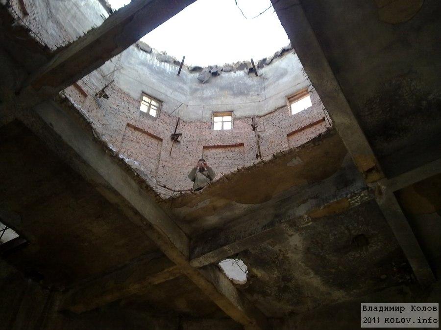 Водонапорная башня в Тольятти, вид изнутри