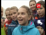 На площади «Пять углов» день знаний отметили «с холодком»… (Мурманск, 1 сентября 2017)