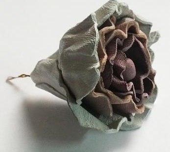 роза из кожи своими руками, роза из кожи мастер класс, как сделать розу из кожи